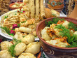 traditional ukrainian food in assortment in festive decorating#8