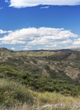 View from the Sierra Cabrera towards Sorbas Almeria Spain
