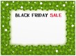 Black Friday of Four Leaf Clover Background