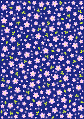 Background pattern of cherry blossoms