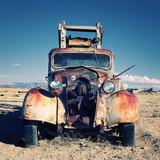 Fototapeta starodawny - czarny - Ciężarówka
