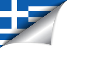 Greece Country Flag Turning Page