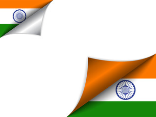 India Country Flag Turning Page