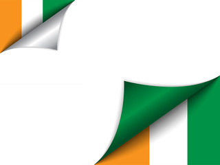 Ireland Country Flag Turning Page