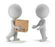 3d small people - parcel delivery