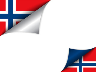 Norway Country Flag Turning Page