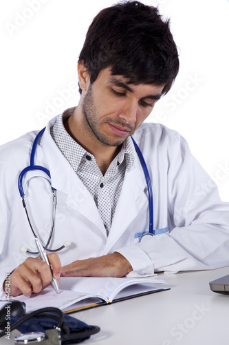 frendly young doctor working