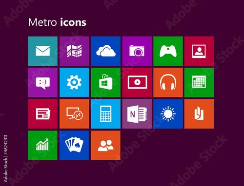 Metro icones