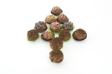 cakepops with chocolate sprinkles