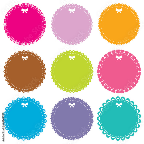 Cute circle frames set