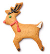 Christmas gingerbread deer cookie