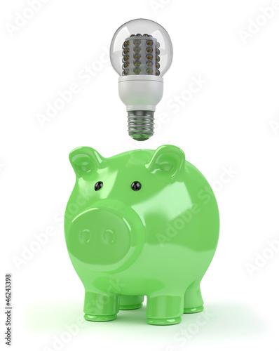 Sparschwein LED