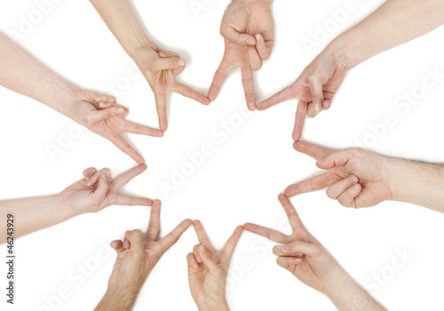 hands forming a star - 46243929