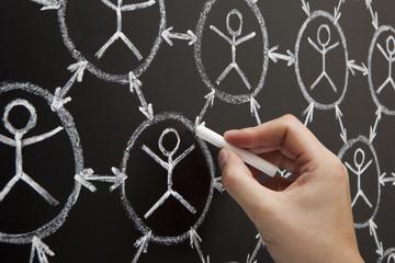 Hand Social Network Blackboard