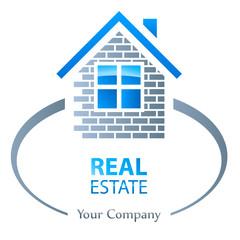Immobilie Logo - Stein auf Stein