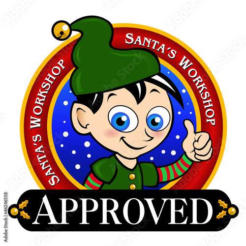 Santa's Workshop Approved Seal