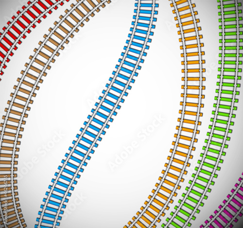 Background with colorful rails