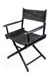 Old black director chair
