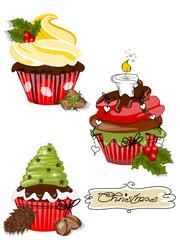 Weihnachtliche Cupcakes, Muffin
