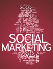 "Word Cloud ""Social Marketing"""