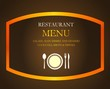 Brown restaurant template