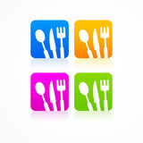 Abstract set kitchen sign logo