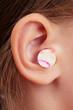 Ear plugs in the human ear