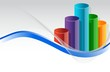 colorful business graph illustration design