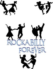 rockabilly forever concept dancers in silhouette