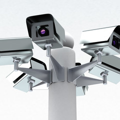Security cameras, 3d