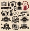 Beer icons, labels, signs, logo designs and design elements - 46256728