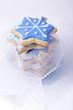 Blaue Sterne Weihnachtsplätzchen