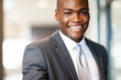 confident african american businessman closeup