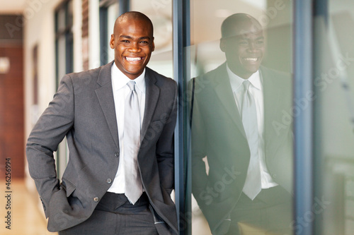 happy african american business executive