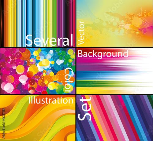 varios fondos de color en vector