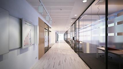 Schlichter moderner Büroflur - Vorstandsetage