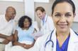 Female Hispanic Latina Hospital Doctor & Patient