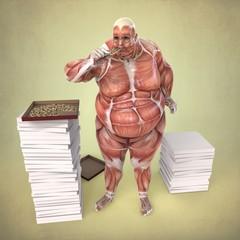 Anatomia Humano Comiendo Pizza