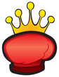 Red glove with crown boxing trophy