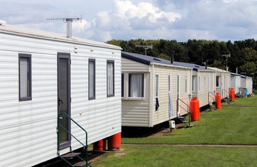 Static caravans in trailer park