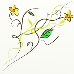 Fondo Con Flores