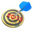 Dart hitting target - New Year 2013