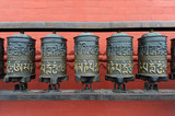 Buddhist prayer wheels