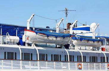 Upper deck of the river passenger liner