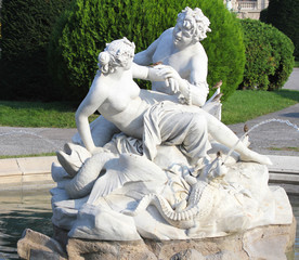 Triton and Nereid fountain in front of Natural History Museum
