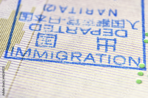 immigration stamp