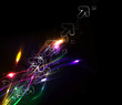 Abstract arrows lighting background