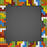 Fototapety Abstract frame background of color blocks