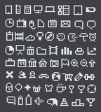 Pixel web icons collection