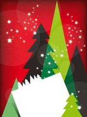 Modern Christmas Greetings Card